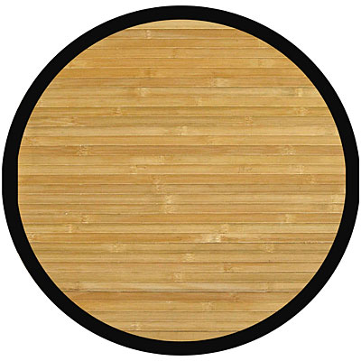Anji Mountain Bamboo Rug, Co Contemporary 7 Round Natural AMB0036-070R