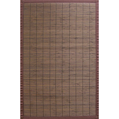 Anji Mountain Bamboo Rug, Co Villager Bamboo Rug 4 x 6 Coffee AMB0012-0046