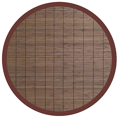 Anji Mountain Bamboo Rug, Co Villager Bamboo Rug 7 Round Coffee AMB0012-070R