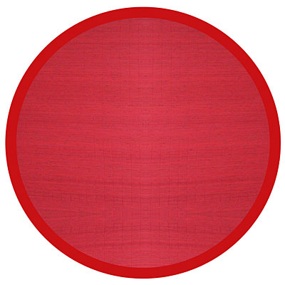 Anji Mountain Bamboo Rug, Co Villager Bamboo Rug 7 Round Crimson AMB0011-070R