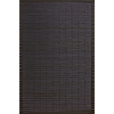 Anji Mountain Bamboo Rug, Co Villager Bamboo Rug 4 x 6 Ebony AMB0013-0046