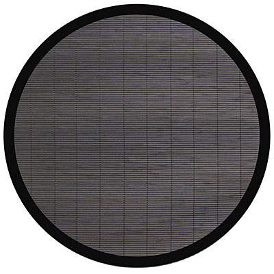Anji Mountain Bamboo Rug, Co Villager Bamboo Rug 7 Round Ebony AMB0013-070R