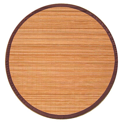 Anji Mountain Bamboo Rug, Co Villager Bamboo Rug 7 Round Natural AMB0010-070R