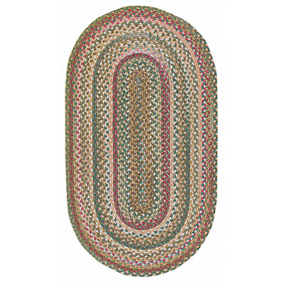 Capel Rugs American Legacy 1 x 2 oval Natural Red 0210_510