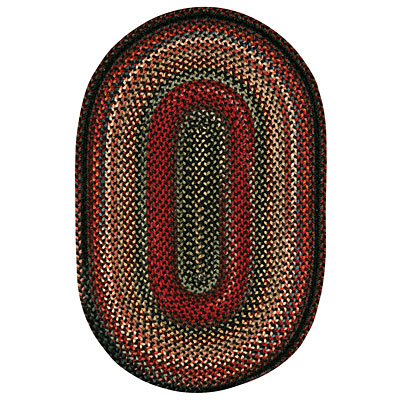 Capel Rugs Americana 11 x 14 oval Black 0346_300