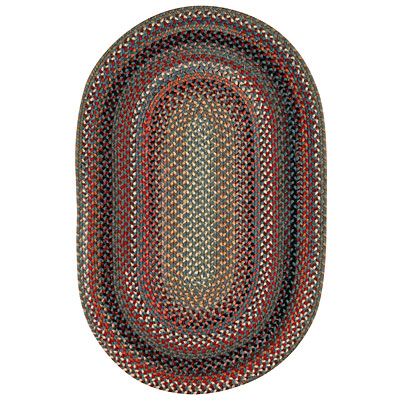 Capel Rugs Americana 3 x 5 oval Colony Blue 0346_400