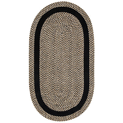 Capel Rugs Basketweave 2 x 4 oval Black 0460_350