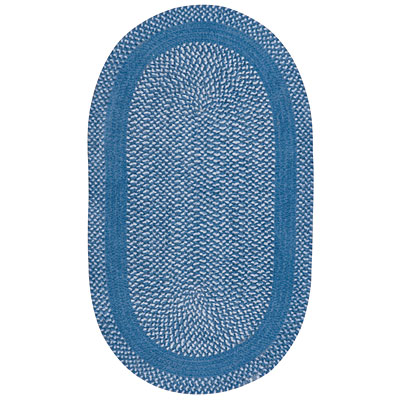 Capel Rugs Basketweave 8 x 11 oval China Blue 0460_450