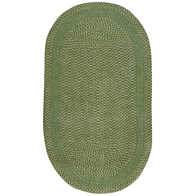 Capel Rugs Basketweave 4 x 6 oval Garden Green 0460_280