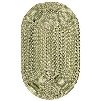 Capel Rugs Beachcomber 3x5 oval Marsh Green 0598_210
