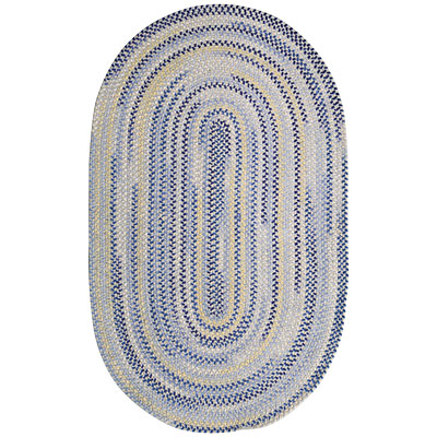 Capel Rugs Beachcomber 7x9 oval Ocean Blue 0598_425