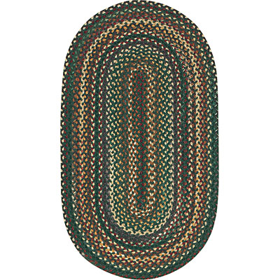 Capel Rugs Bear Creek 7x9 oval Hunter Green 0980_275