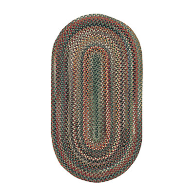 Capel Rugs Bear Creek 9x13 oval Sage 0980_225