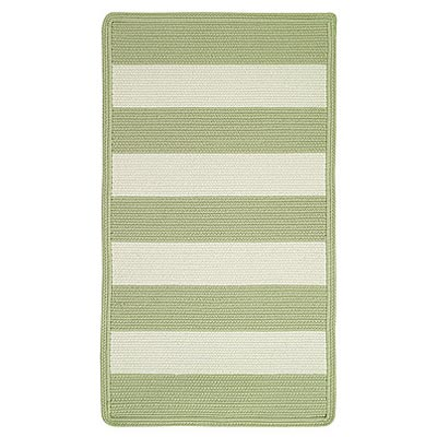 Capel Rugs Cabana Stripes 5 x 8 Celery 0848 220