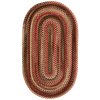 Capel Rugs Cambridge 2x4 oval Red Basil 0442_500
