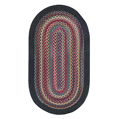 Capel Rugs Cape Henry 1 x 2 oval Black 0040_350