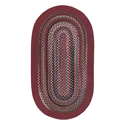 Capel Rugs Cape Henry 1 x 2 oval Wine 0040_500