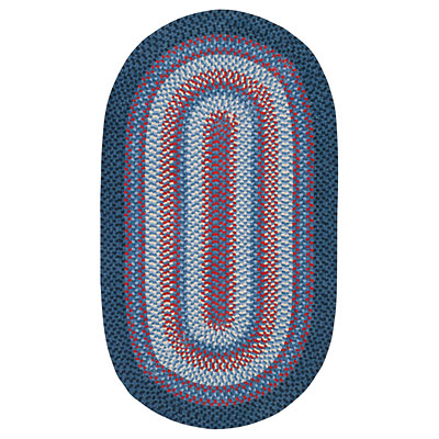 Capel Rugs Cottonside 2 x 4 oval Navy Red 0640_450