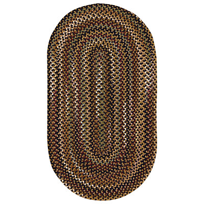 Capel Rugs Gramercy 11 x 14 oval Black 0070_300