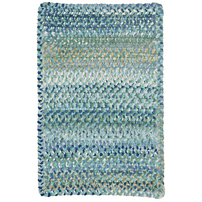Capel Rugs Grand-Le-Fleur 11 x 14 oval Blue Mist 0425_425