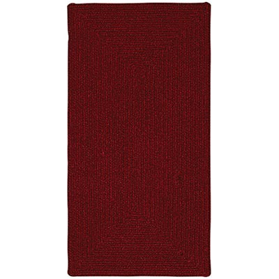 Capel Rugs Heathered 7 x 9 Dark Red 0050 550