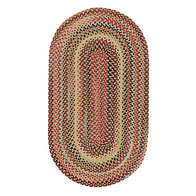 Capel Rugs In The Valley 2 x 3 Oval Antique Gold 0482_100