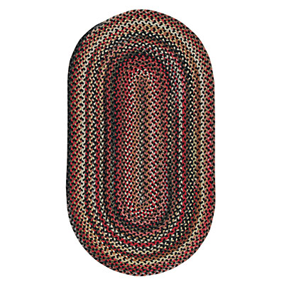 Capel Rugs In The Valley 7 x 9 Oval Black 0482_300