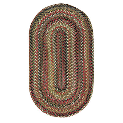 Capel Rugs In The Valley 7 x 9 Oval Olive 0482_275