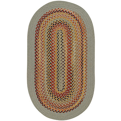 Capel Rugs Monticello 2 x 4 Oval spearmint 0804_400