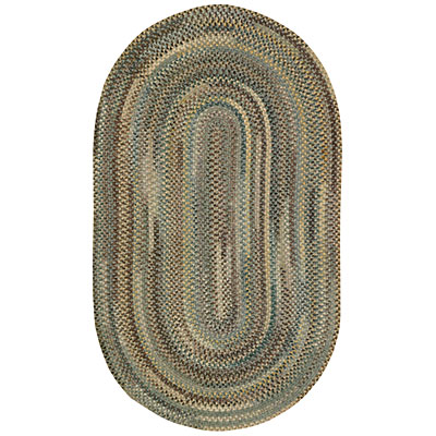 Capel Rugs Oxford 2x4 Oval Aspen Green 0444_225