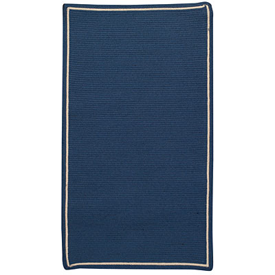 Capel Rugs Pinstripe 5 x 8 Oval Deep Blue 0426_450