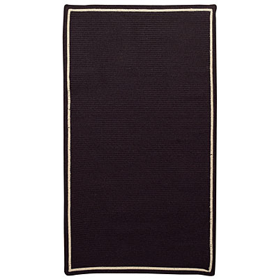 Capel Rugs Pinstripe 5 x 8 Oval Soft Black 0426_350