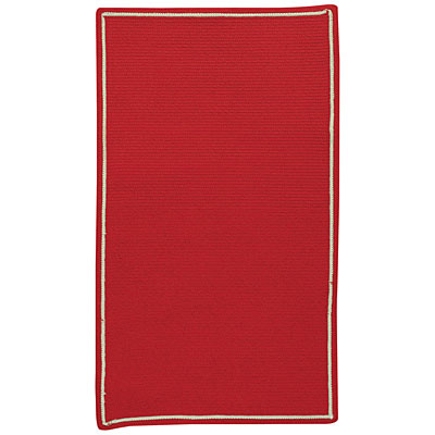 Capel Rugs Pinstripe 7 x 9 Oval True Red 0426_550