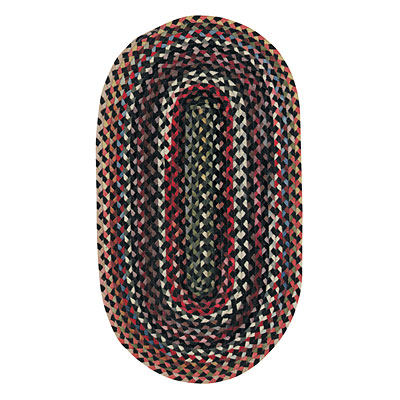 Capel Rugs Plymouth 2 x 4 Oval Black 0440_300