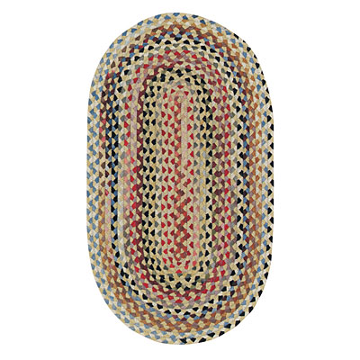 Capel Rugs Plymouth 5 x 8 Oval Light Gold 0440_100