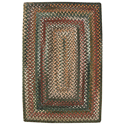 Capel Rugs Shadowbox Linden 7 x 9 Hunter Green 0802_275