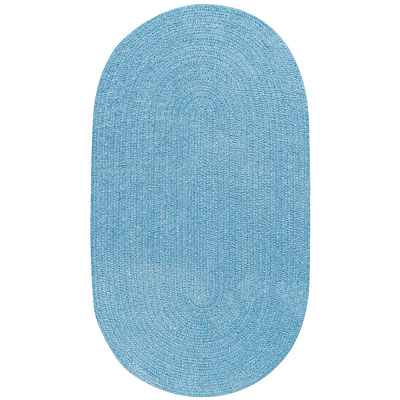 Capel Rugs Solo 1 x 2 Oval Cornflower 0806_400