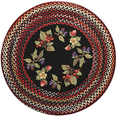Capel Rugs Somewhere In Time 3 ft Round Berry Patch 0610_350