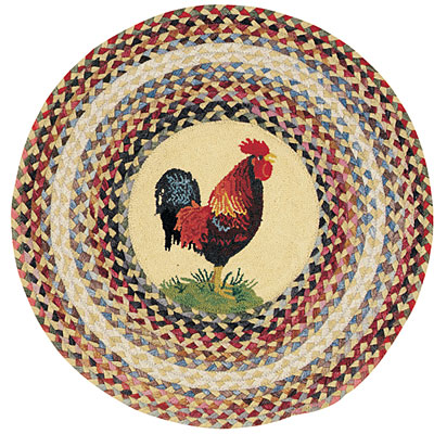 Capel Rugs Somewhere In Time 3 ft Round Ella Rooster 0610_100