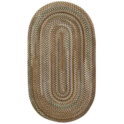 Capel Rugs Wearever 1 x 2 Oval Olive 0428_225