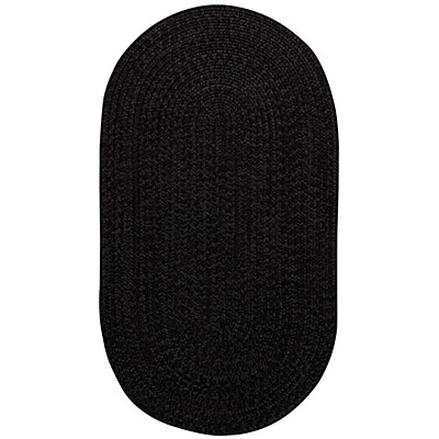 Capel Rugs Woodrun 1 x 2 Oval Black Satin 0850_350