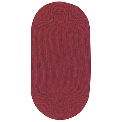 Capel Rugs Woodrun 9 x 13 Oval Burgundy 0850_575