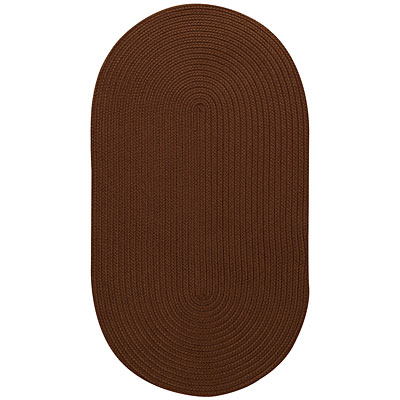 Capel Rugs Woodrun 9 x 13 Oval Chocolate 0850_775
