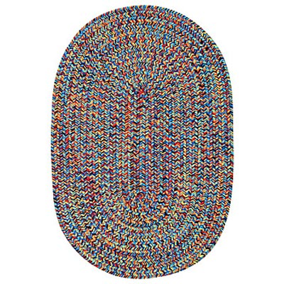 Capel Rugs Woodrun 5 x 8 Oval Fietsa Bright Multi 0850_900