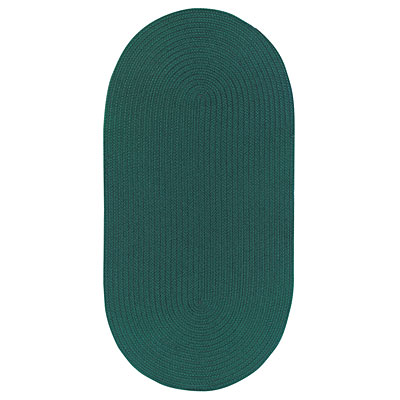 Capel Rugs Woodrun 9 x 13 Oval Forest Green 0850_275