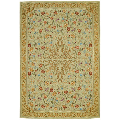 Capel Rugs Festival of Flowers 3 x 5 Antique Green 6960_200