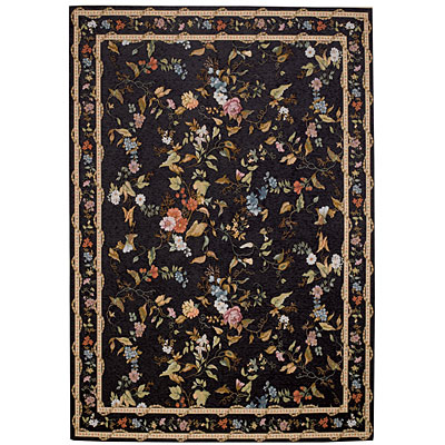 Capel Rugs Festival of Flowers 8 x 11 Black Marble 6960_350