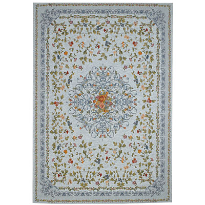 Capel Rugs Festival of Flowers 5 x 8 Sky Blue 6960_400