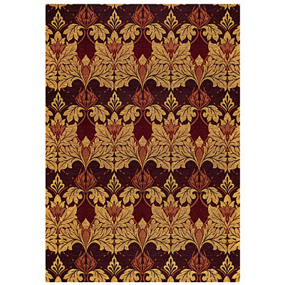 Capel Rugs Sweet William 6 x 9 Deep Garnet 6955_575