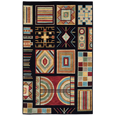 Capel Rugs Crystalle - Aztec 5 x 8 Black 1608_350